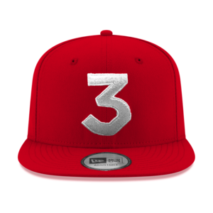 Chance 3 New Era Cap Red Silver