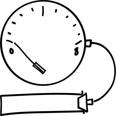 When the dial reads 0, the joint or valve is fully sealed. A full seal is great for joints and slides, but a valve won't turn if it's this tight!