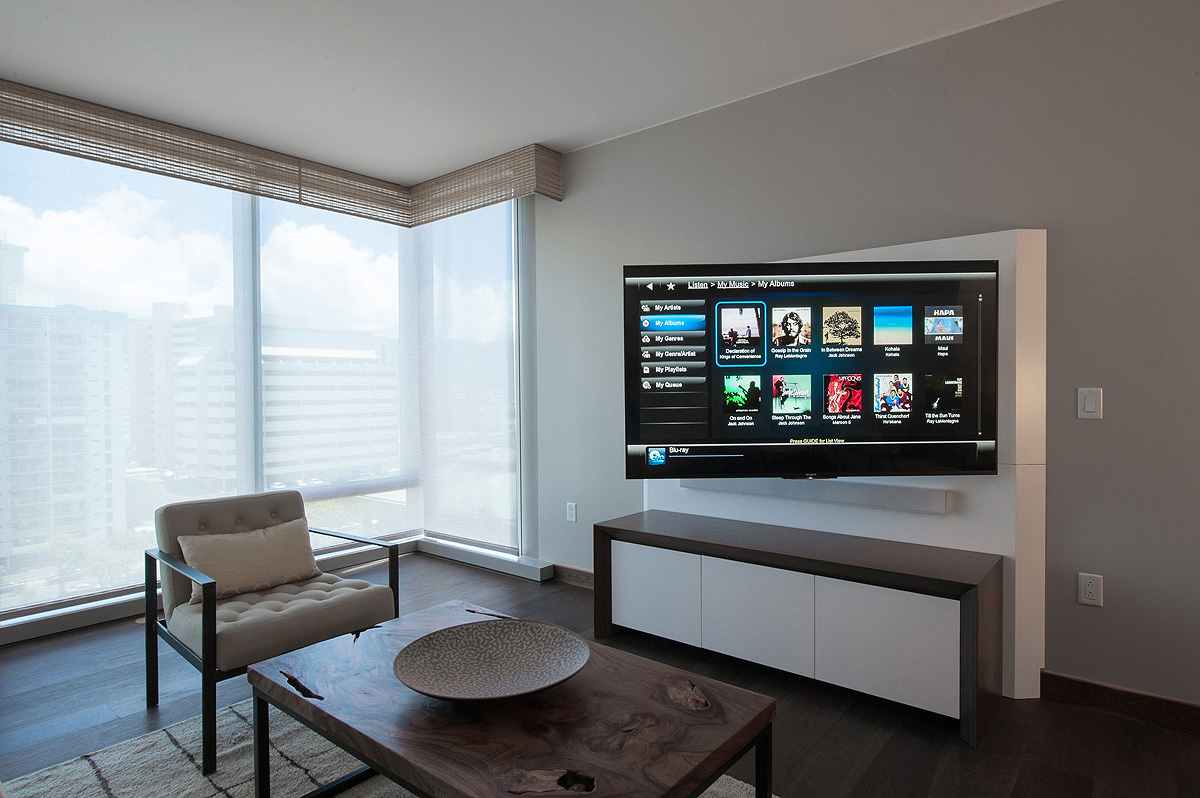 Swing Arm Mount Allows TV To Be Angled To Ideal Viewing PositionLiving Room Media Console   BAV. Console Living Room. Home Design Ideas