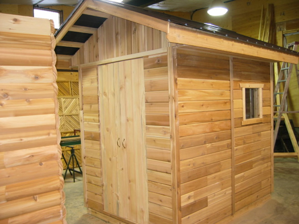 "Garden shed made with RB 1x6"" Cedar #256 Siding"