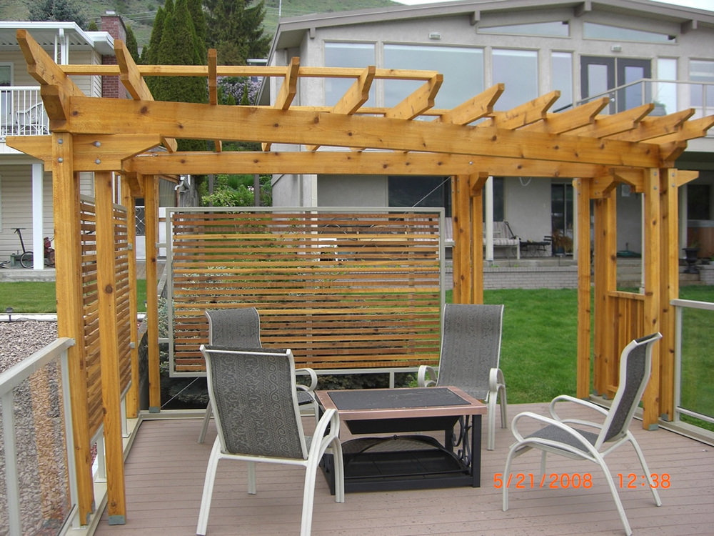 "Pergola constructed with RB 5/4x4"" Cedar"
