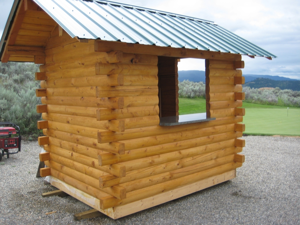 "Outbuilding at ""The Rise"" Golf Course constructed with RB 4x6"" Cedar log"