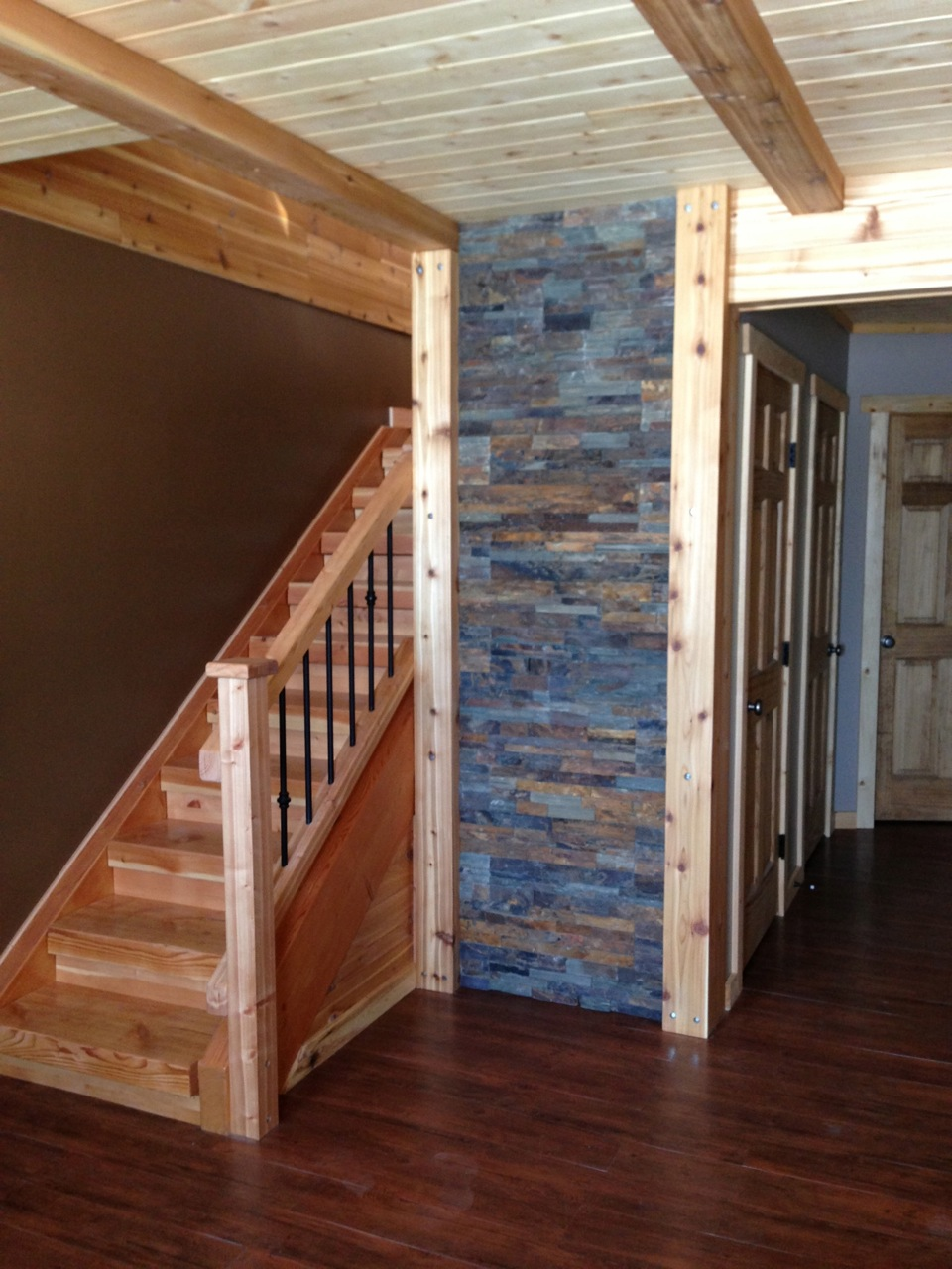 Stairs with RB Fir and RB Cedar trim