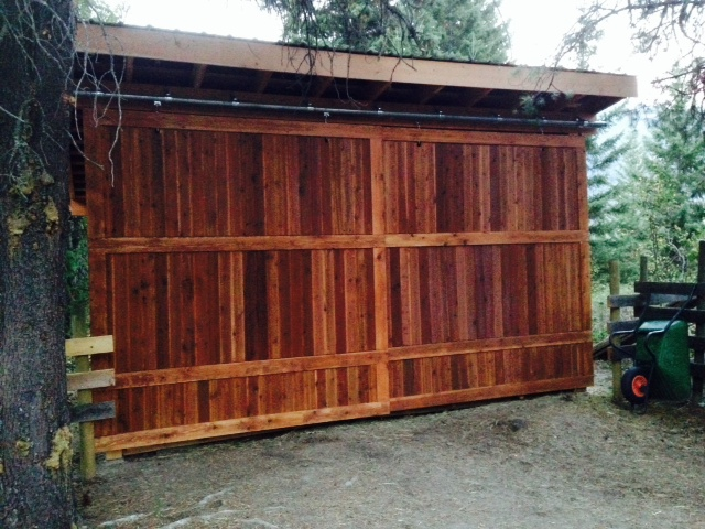Barn Door constructed with RB G-36
