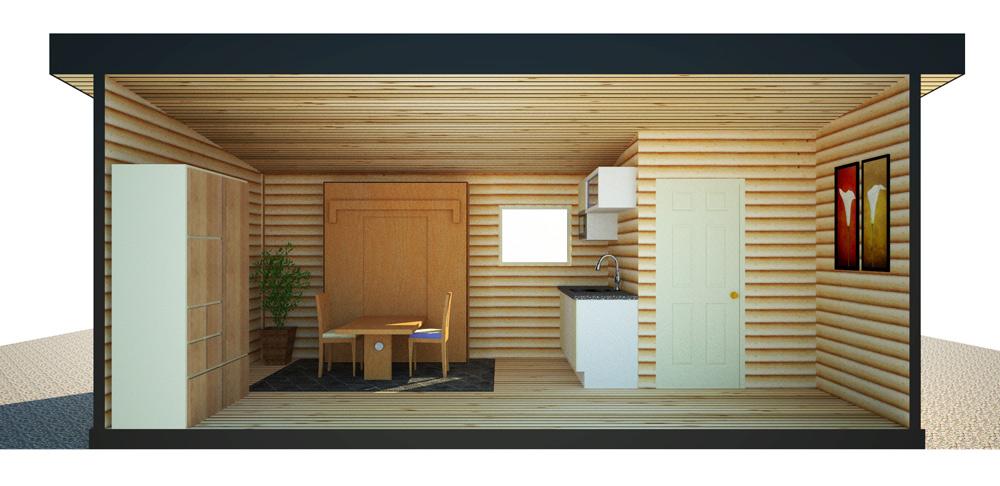 The 10x20' Tiny Home B&B - INT