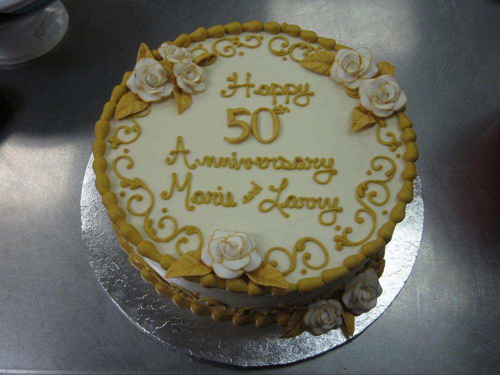 50 Years of Love Anniversary Cake