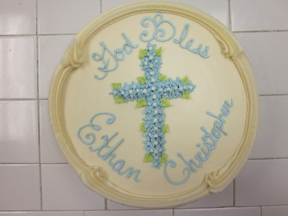 Blue Flower Cross for Ethan 026