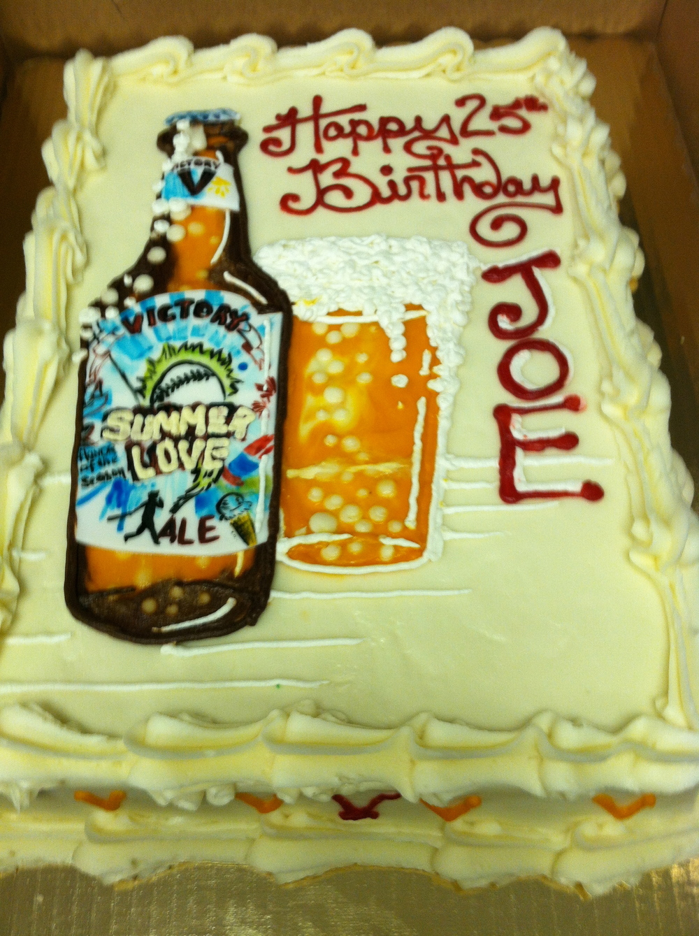 Victory Beer Birthday Cake