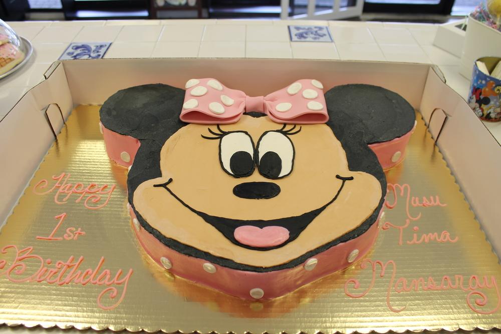Polka Dot Bow Birthday Cake