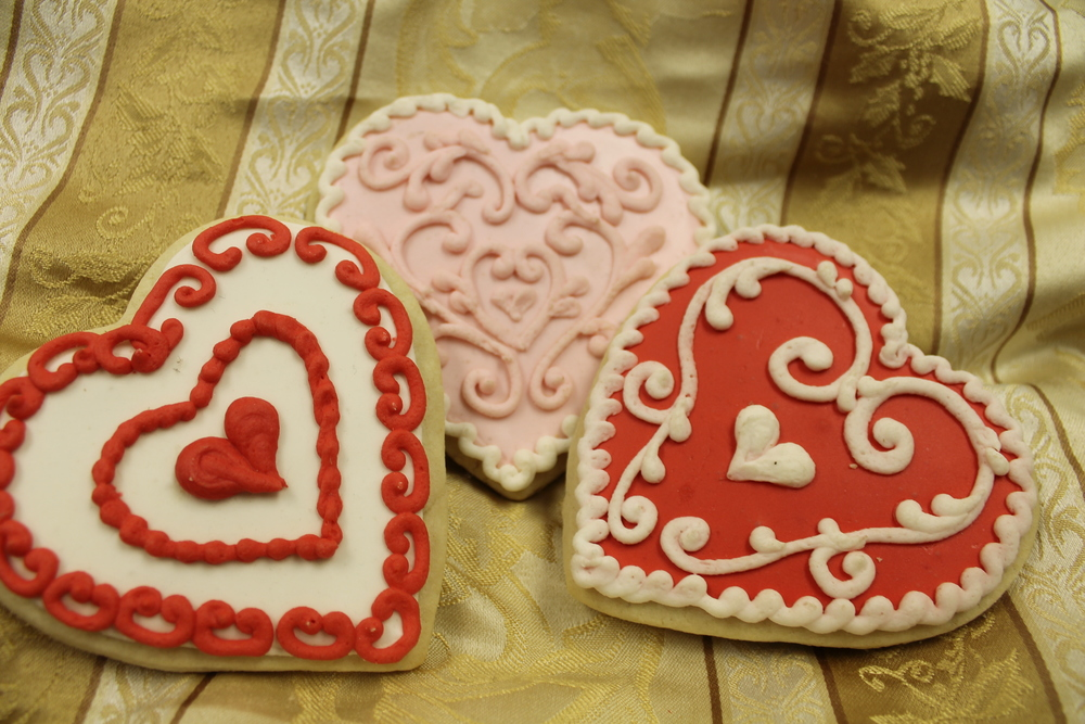 Decorated Valentine's Day Cookies
