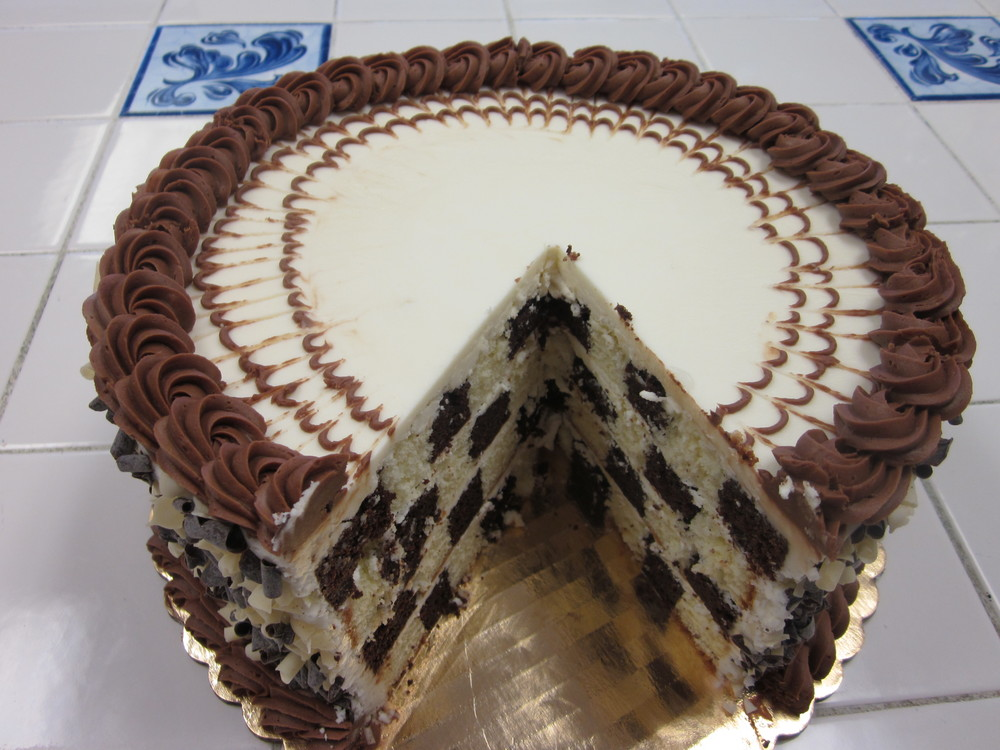 Pop Pop's Checkerboard Cake
