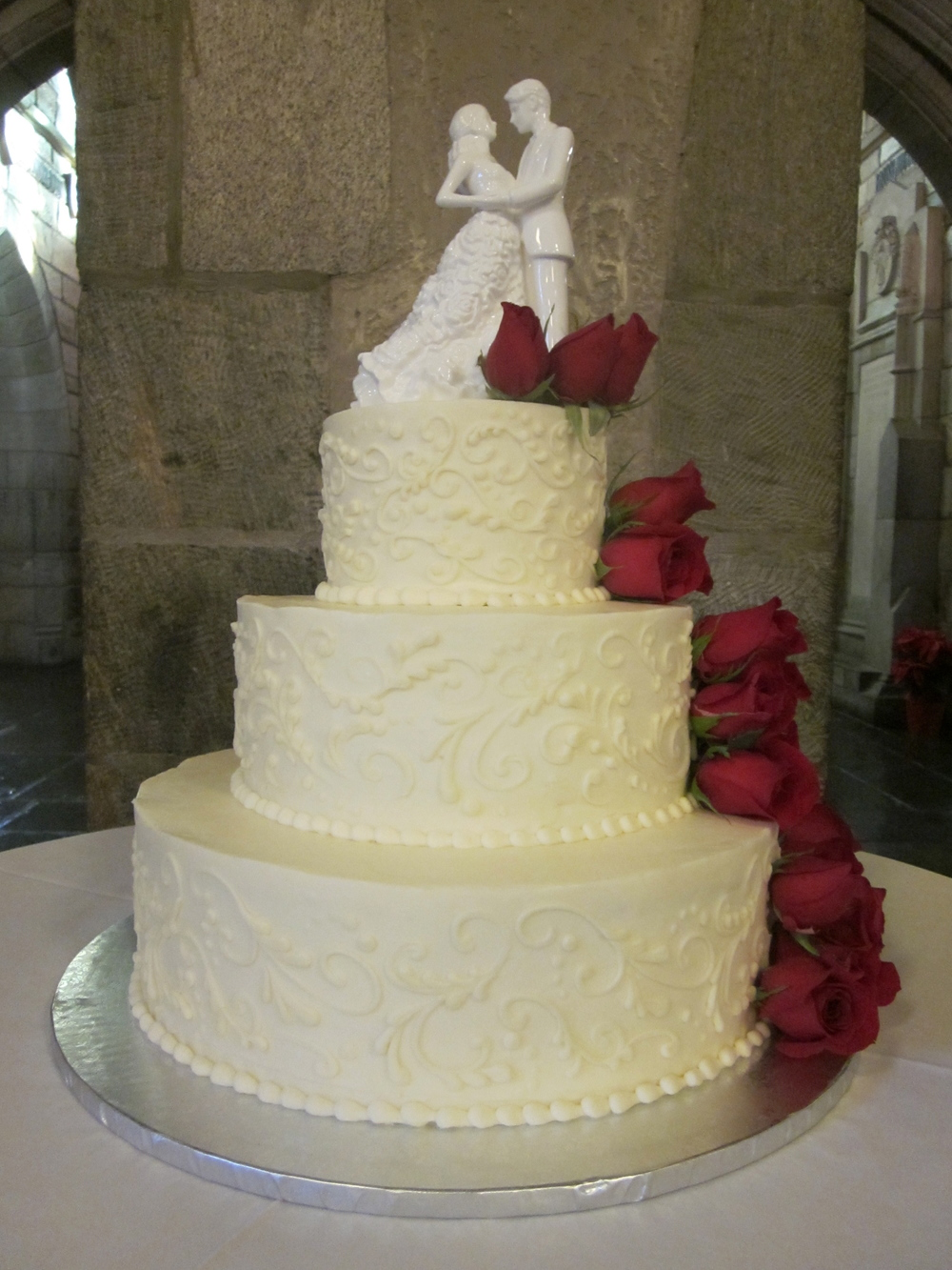 Wedding Cake at Christmas