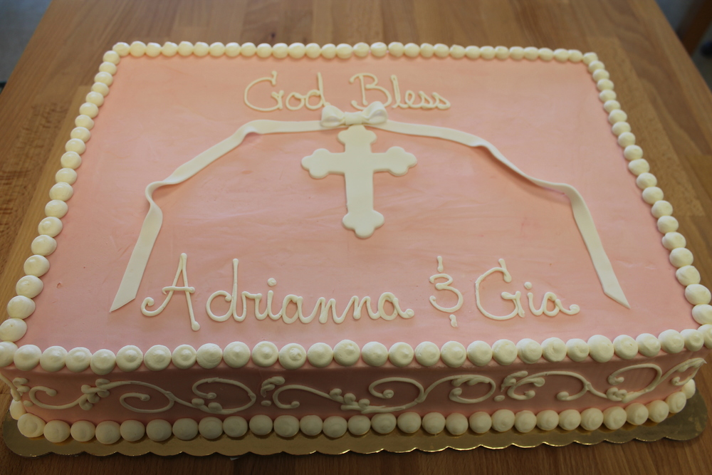 Cross with Bow and Ribbon Cake 050