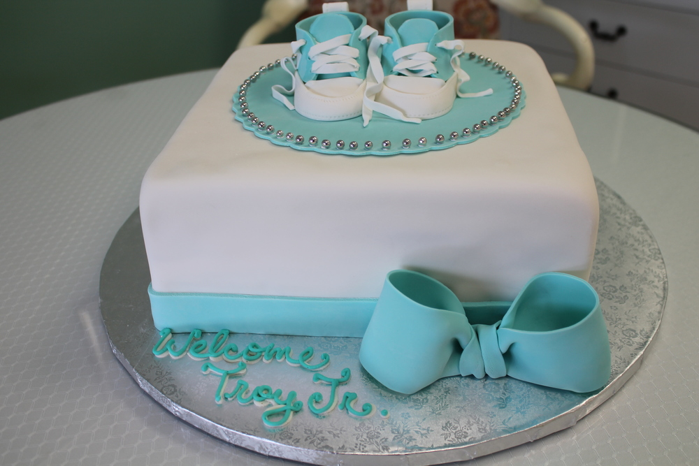 Baby Boy Sneakers Shower Cake
