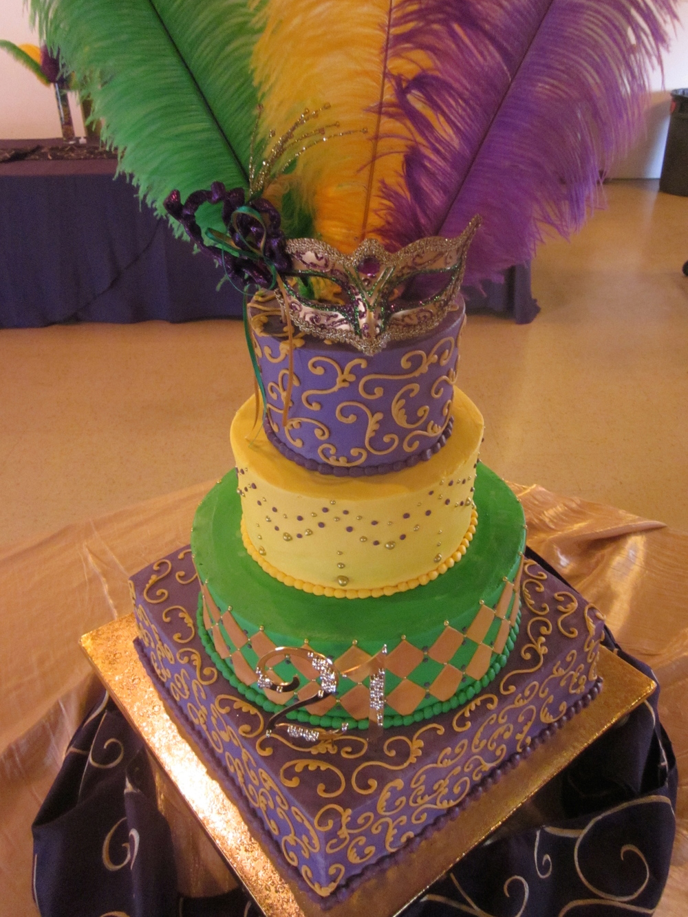 Mardi Gras Birthday Cake