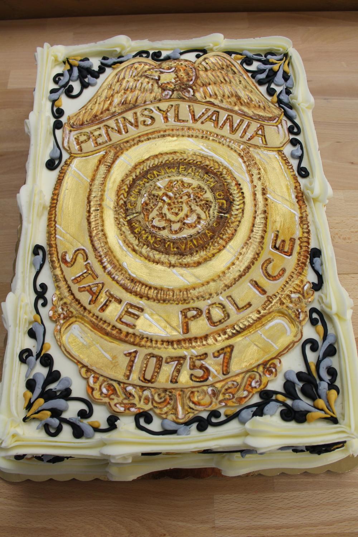 State Trooper Grooms cake
