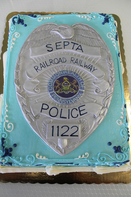 SEPTA Police Grooms Cake