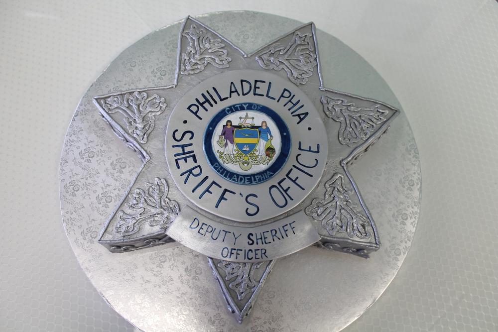 Grooms' Cake Sheriffs Badge Cake