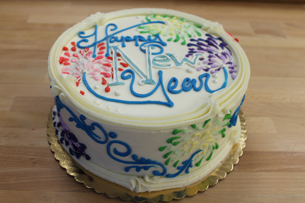 New Year Celebration Cake