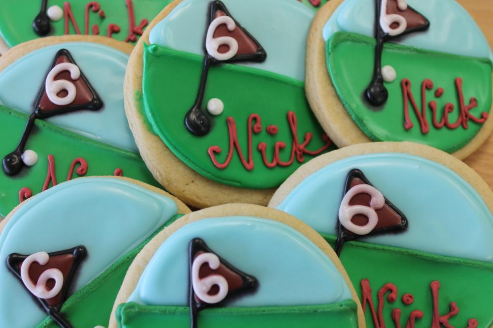 Golf Theme Cookies