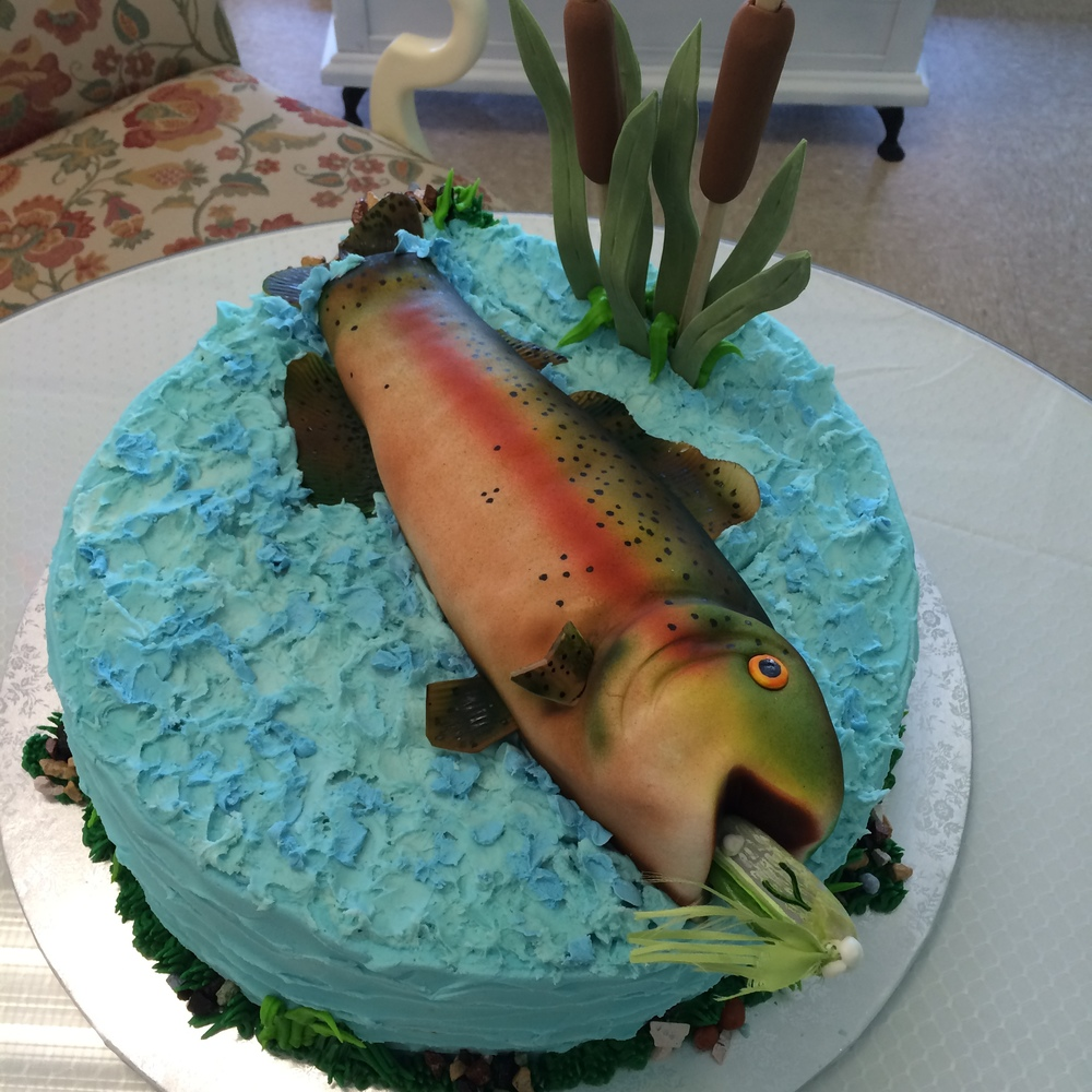 Loves to Fish Groom's Cake