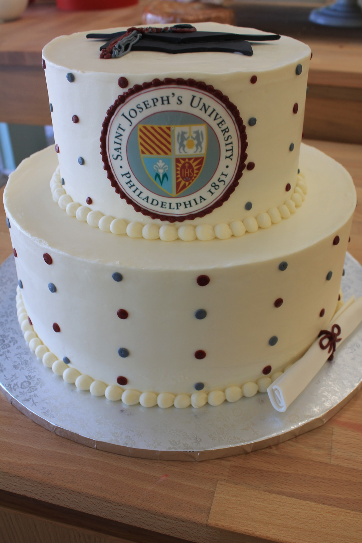 Saint Joe's Grad Cake