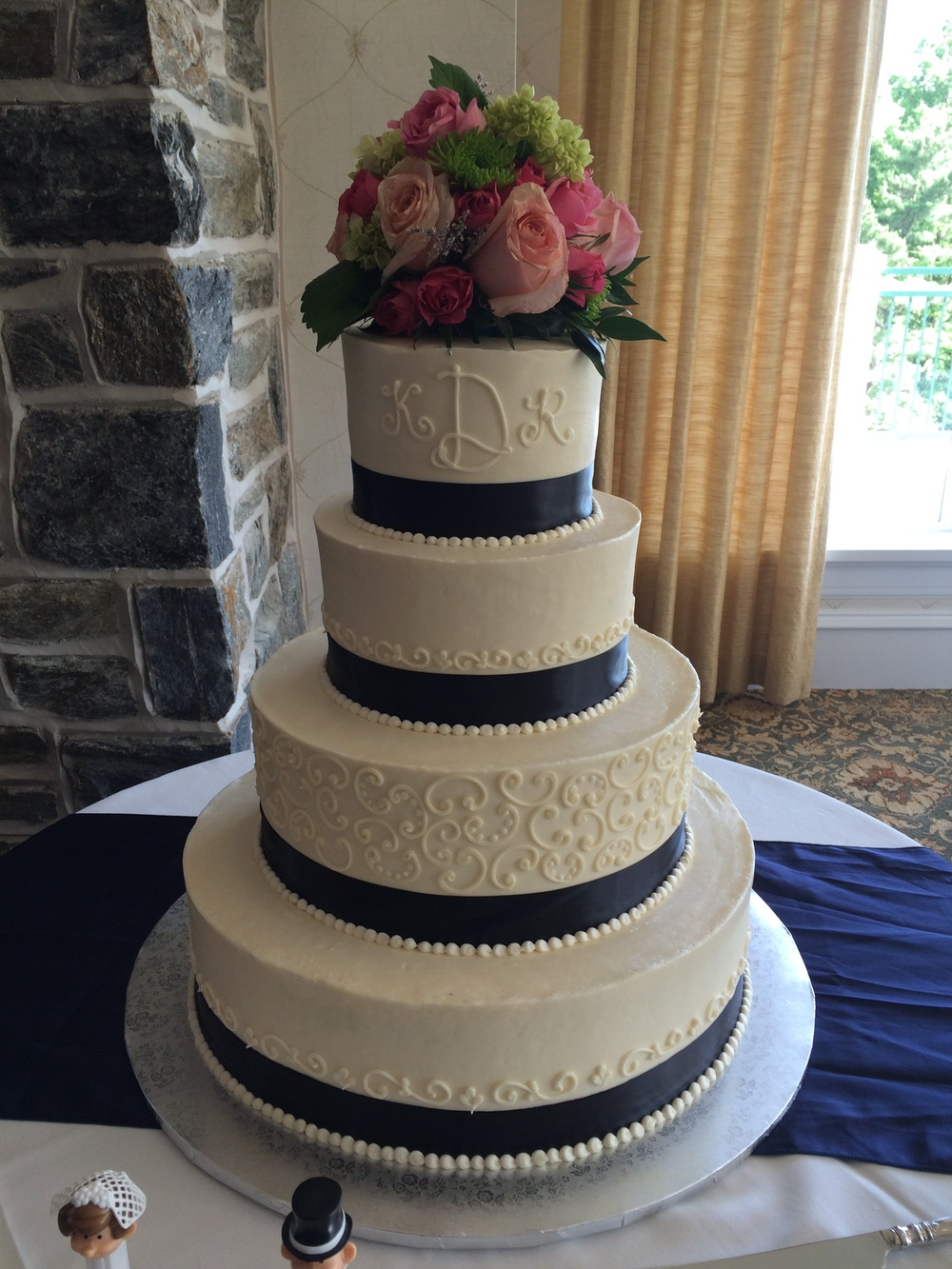Navy Summer Wedding Cake