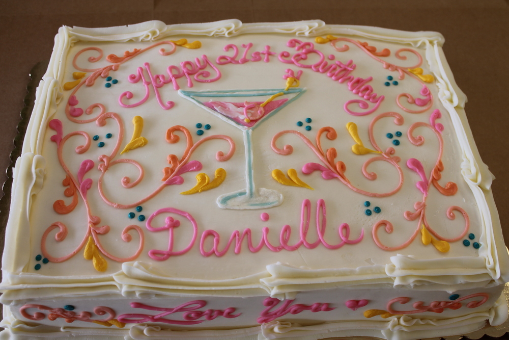 21st Birthday Celebration Cake