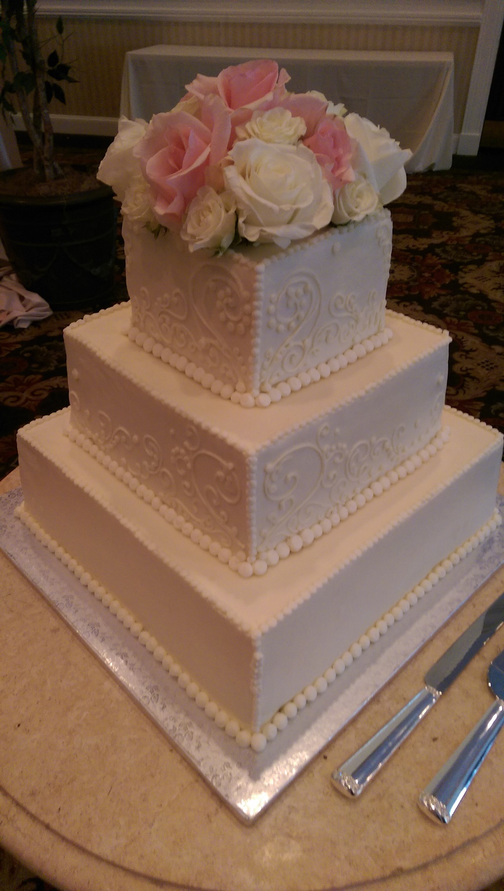 Summer Squares Wedding Cake