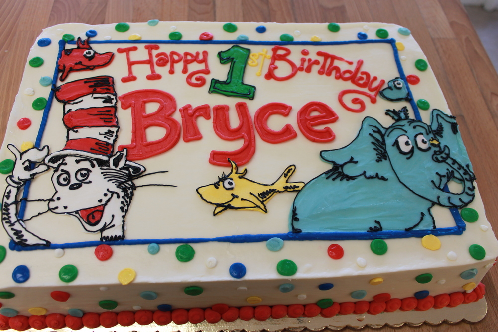 Dr. Seuss Cake for Bryce