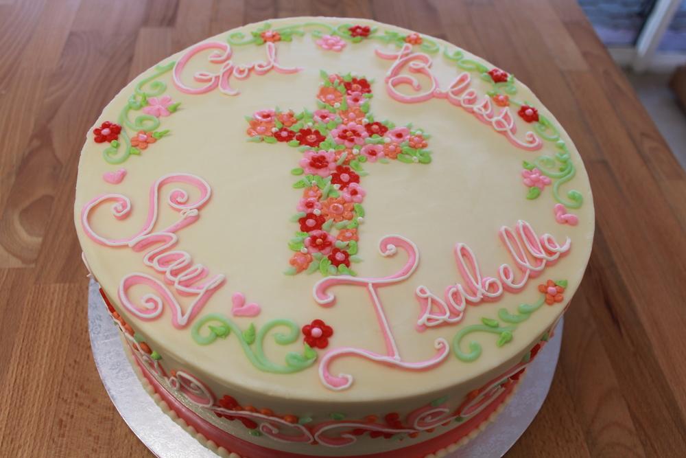 Pretty Flowers Cross Cake