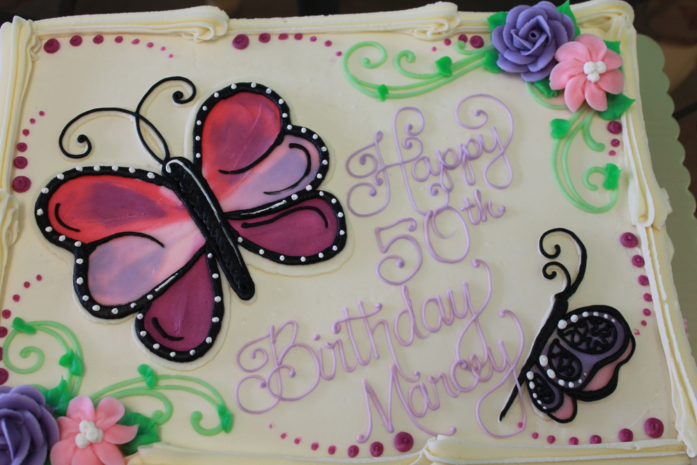 Butterflies and Flowers Birthday Ckae