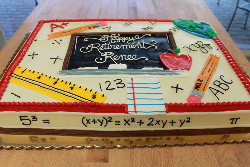 Teacher's Retirement Celebration Cake