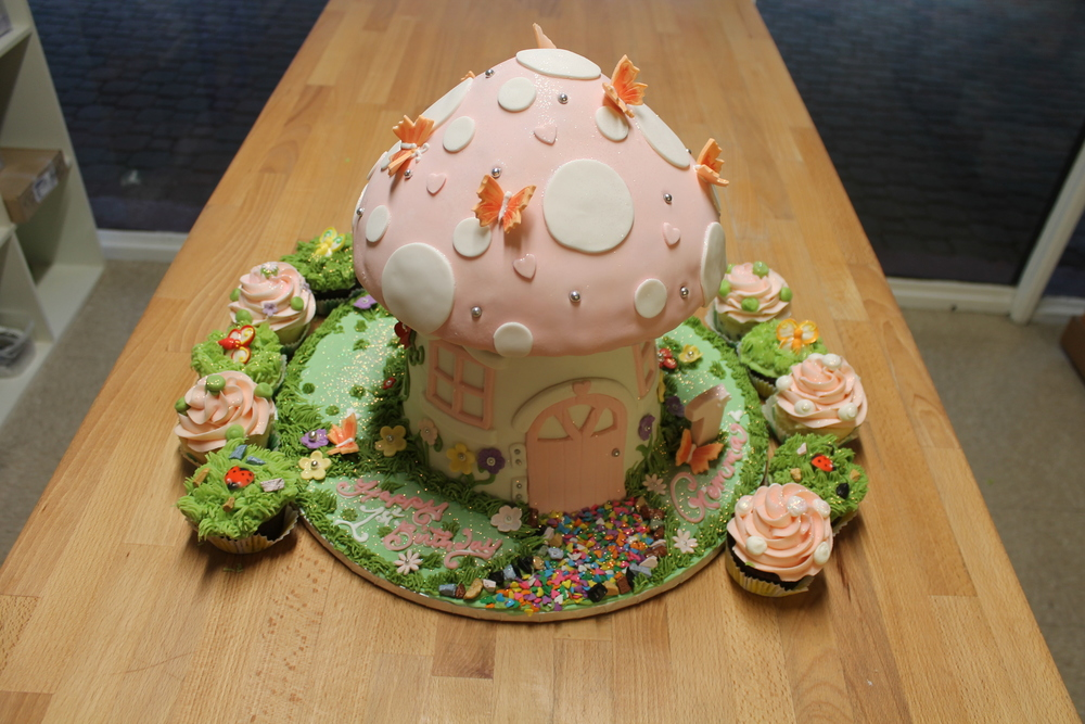Toadstool and Butterflies First Birthday