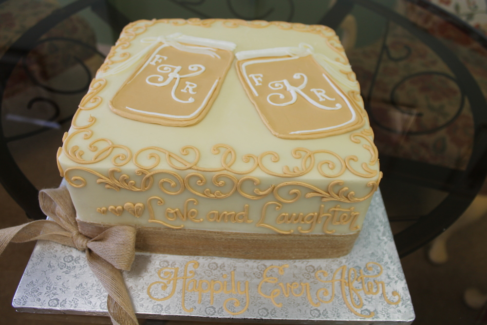 Happily Ever After Engagement Cake