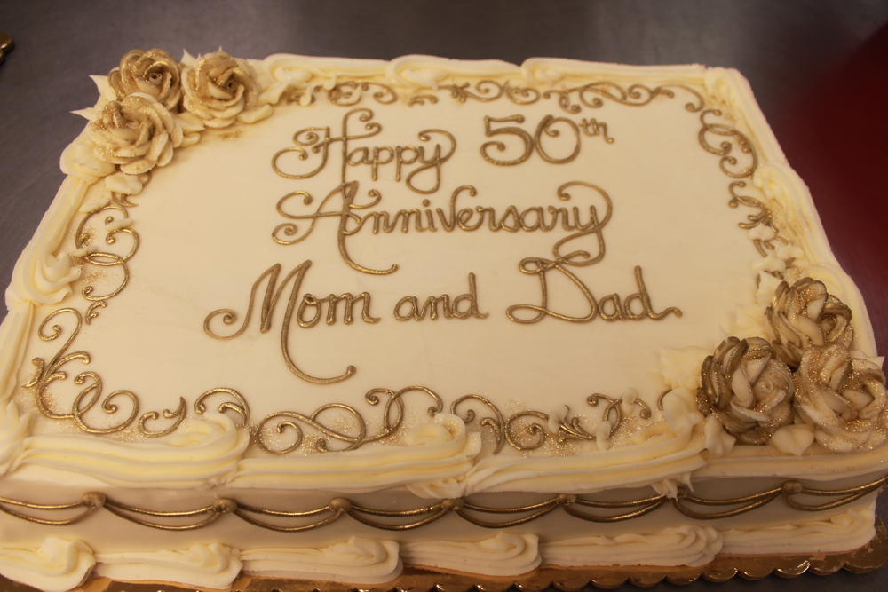 Golden Anniversary for Mom and Dad Cake