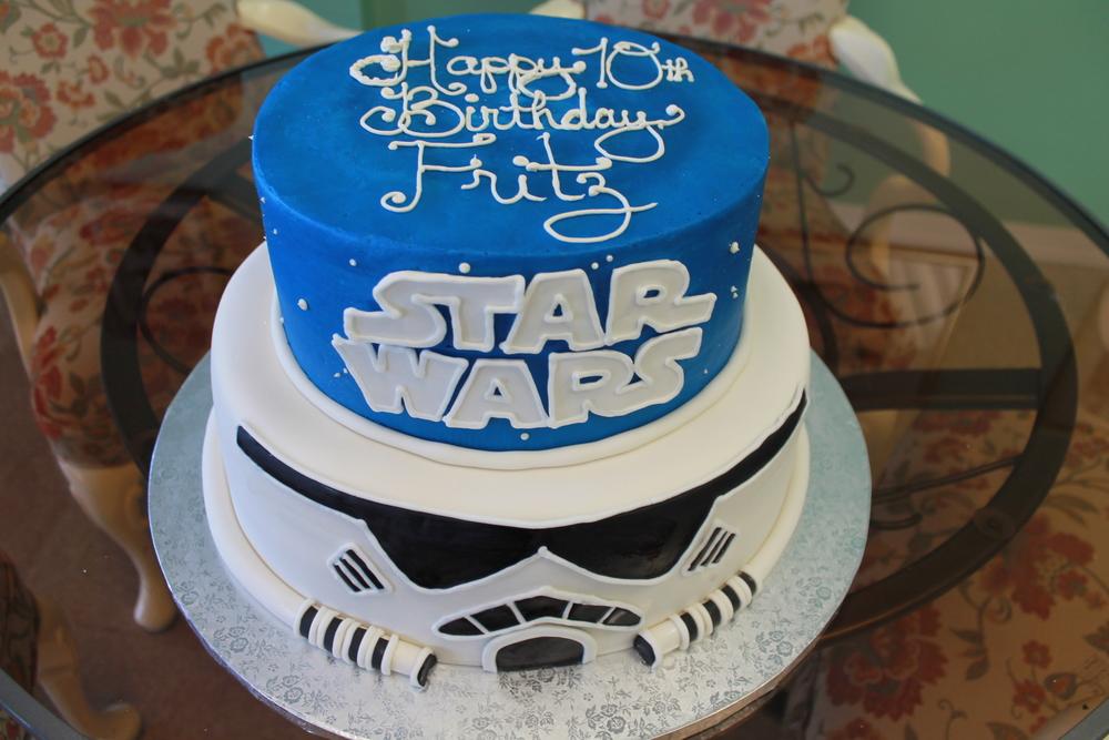 Storm Trooper Birthday Cake