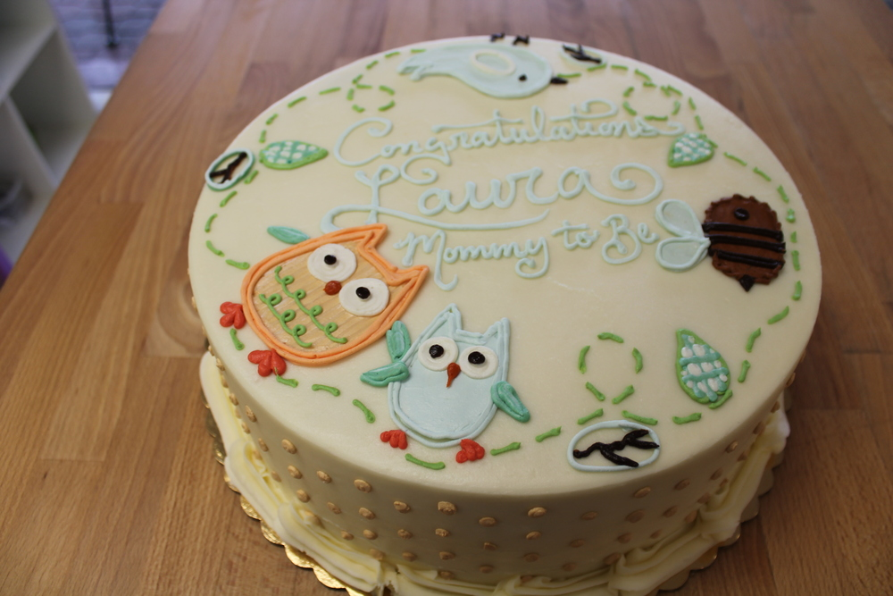 Owls and Friends Shower Cake