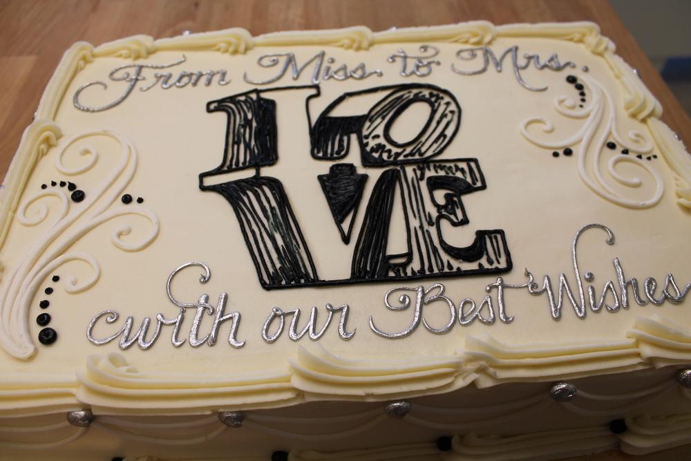 Love Symbol Shower Cake