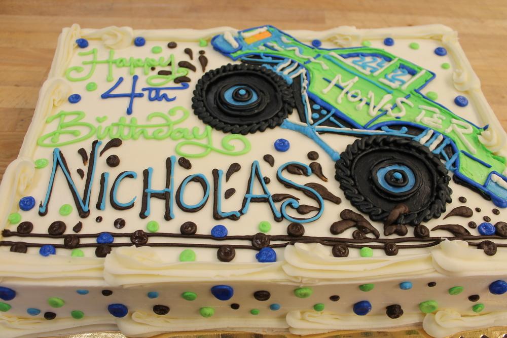 Big Tire Blast Birthday Cake