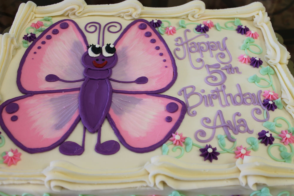 Big Pink and Purple Butterfly