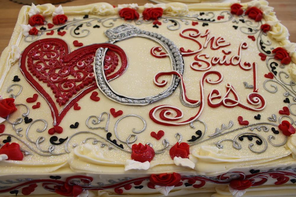 She Said Yes Cake!