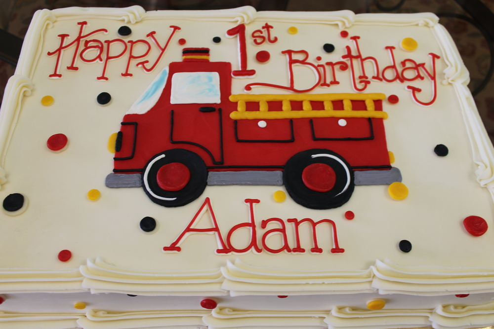 Birthday with a Fire Truck