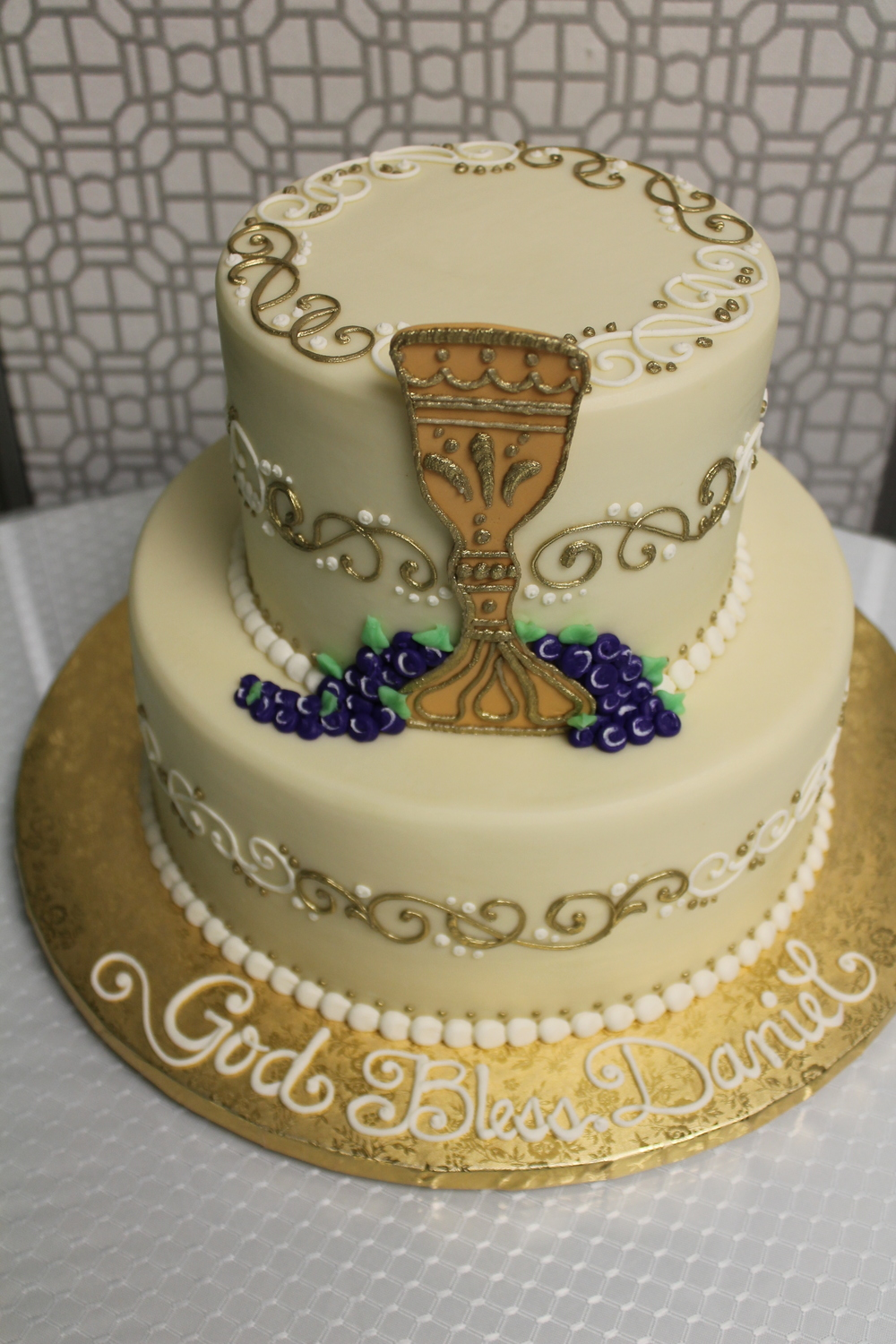 Tier Cake for a First Holy Communion