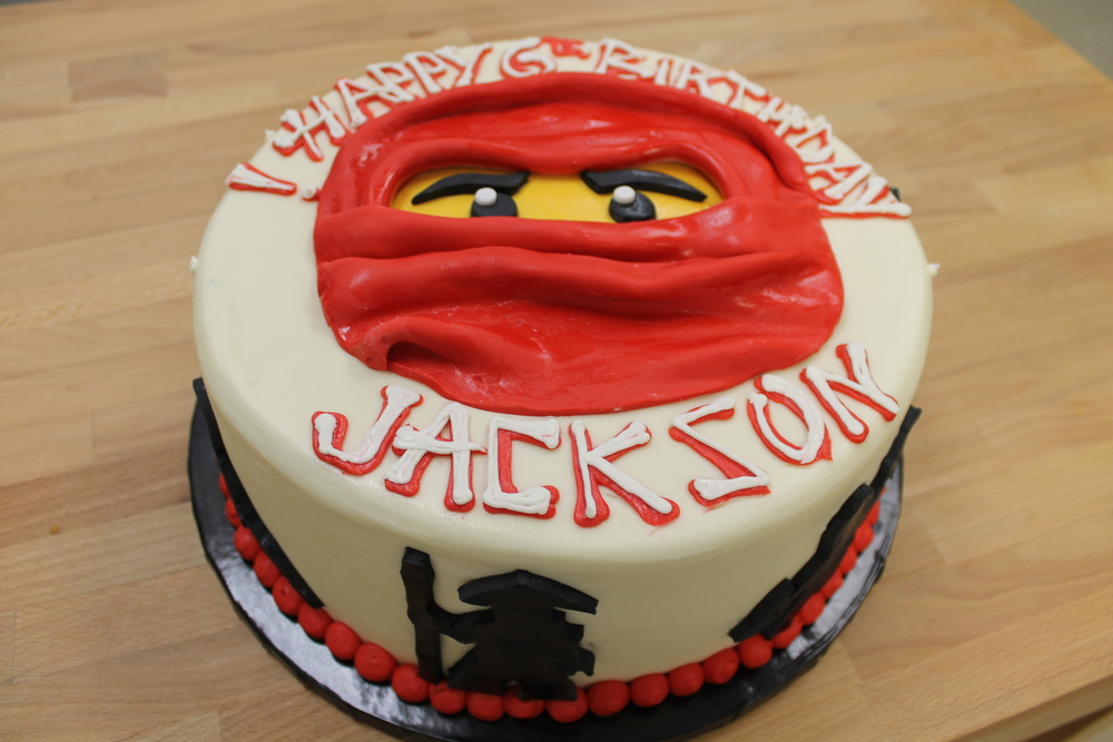 Red Ninja Birthday Cake