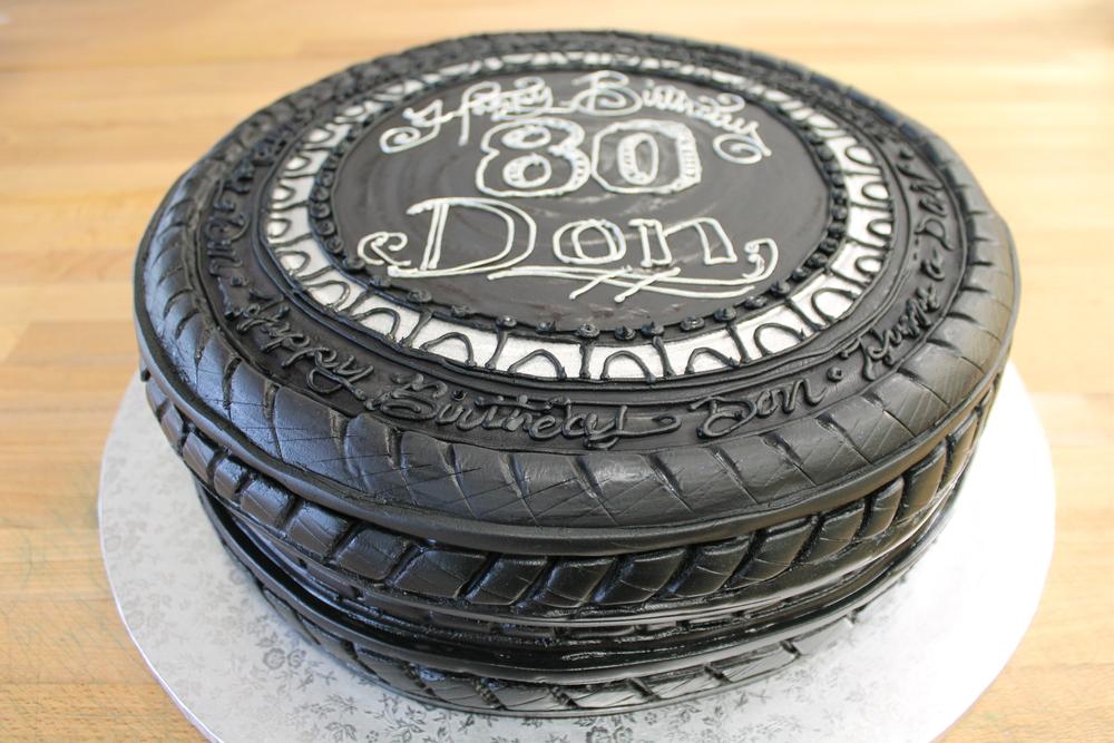 Car Tire Celebration Cake