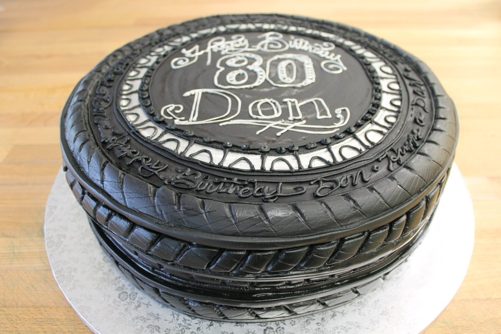 Car Tire Celebration Cake