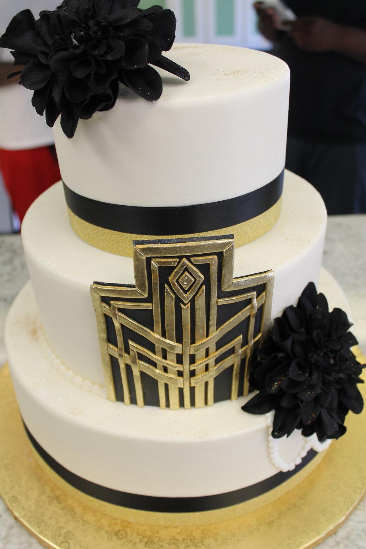 Gatsby Theme Wedding Cake