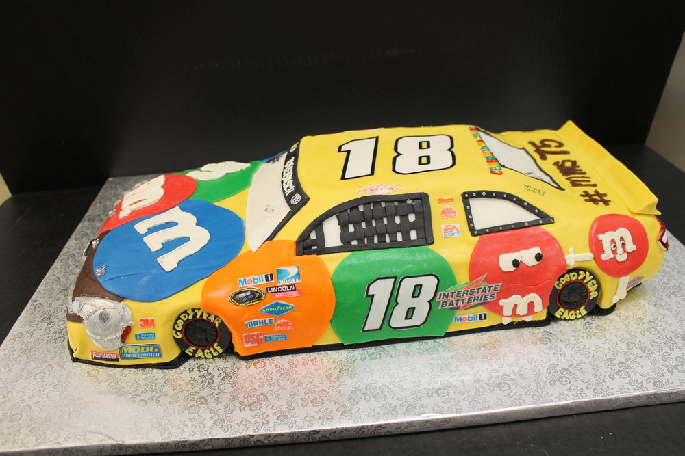 M & M Race Car Themed Groom's Cake