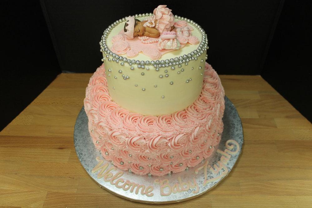 Precious Princess Baby Shower Cake
